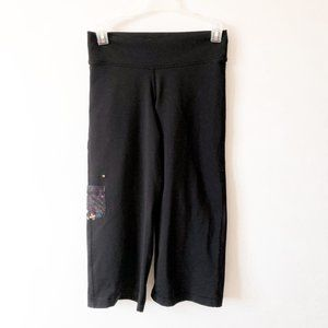 Triple Flip Black Spandex Active Capri Pants
